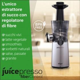 Estrattore di Succo Juicepresso siQuri con Fiber Control | BPA free