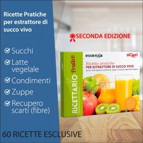 Libro ricette pratiche per estrattore di succo vivo | Essenziali - 2^ edizione